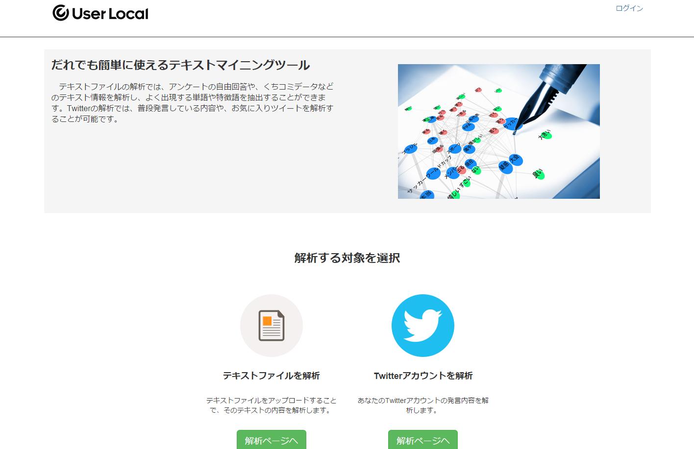 UserLocalテキストマイニング